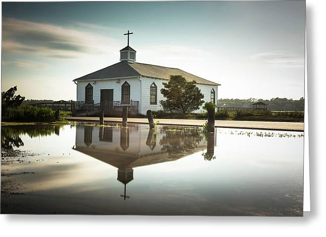 Pawleys Chapel Reflection Greeting Card