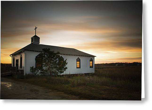 Pawleys Chapel Sunset Greeting Card