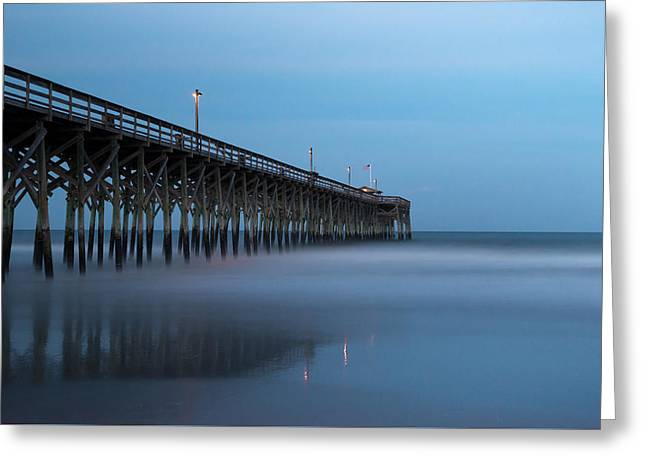 Pawleys Island Pier During The Blue Hour Greeting Card by Ivo Kerssemakers