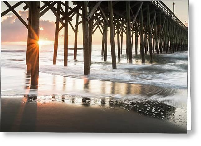 Pawleys Island Pier Sunrise Greeting Card by Ivo Kerssemakers