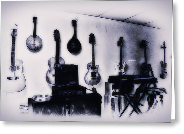 Pawn Shop Guitars Greeting Card by Bill Cannon