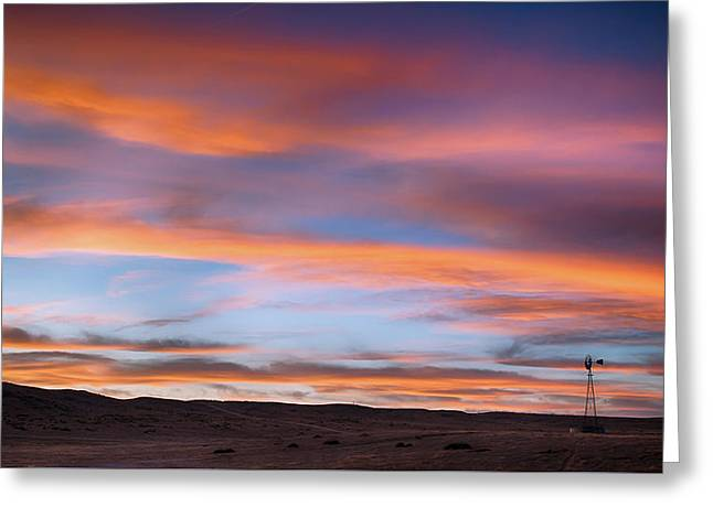 Greeting Card featuring the photograph Pawnee Sunset by Monte Stevens