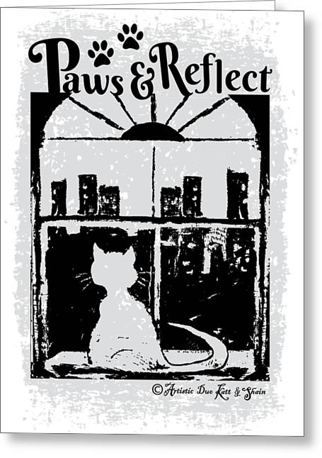 Paws And Reflect Greeting Card