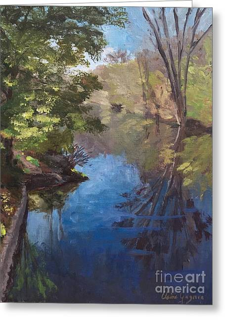 Pawtucket Canal Greeting Card