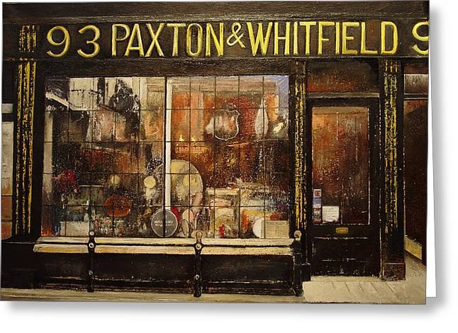 Paxton Whitfield .london Greeting Card by Tomas Castano