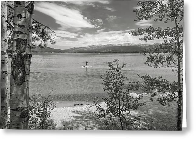 Payette Lake Boarder Greeting Card