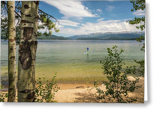 Greeting Card featuring the photograph Payette Lake by Mark Mille