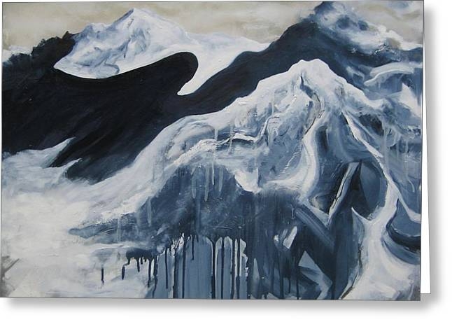 Payne's Gray Mountains Greeting Card by Sky Schulz