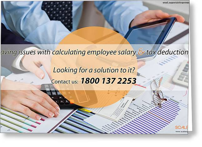 Payroll Erp Software In India Greeting Card by Scale ERP