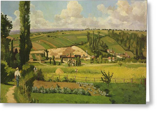 Paysage Aux Patis, Pointoise Greeting Card by Camille Pissarro