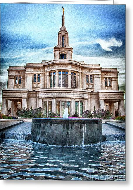 Payson Temple Lords House Greeting Card