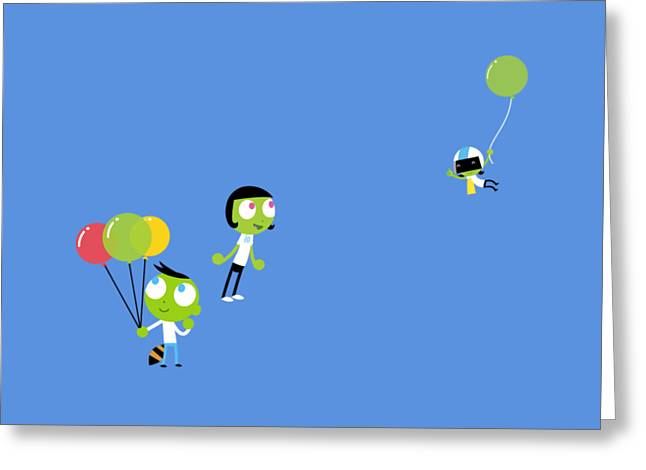 Pbs Kids Balloons Greeting Card