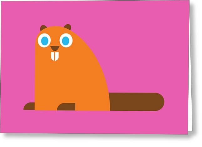 Pbs Kids Beaver Greeting Card