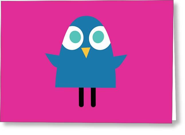 Pbs Kids Blue Bird Greeting Card by Pbs Kids
