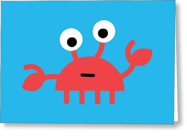 Pbs Kids Crab Greeting Card by Pbs Kids