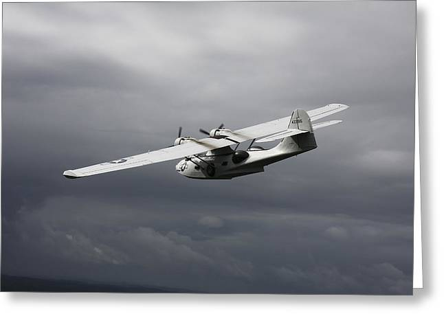 Pby Catalina Vintage Flying Boat Greeting Card by Daniel Karlsson