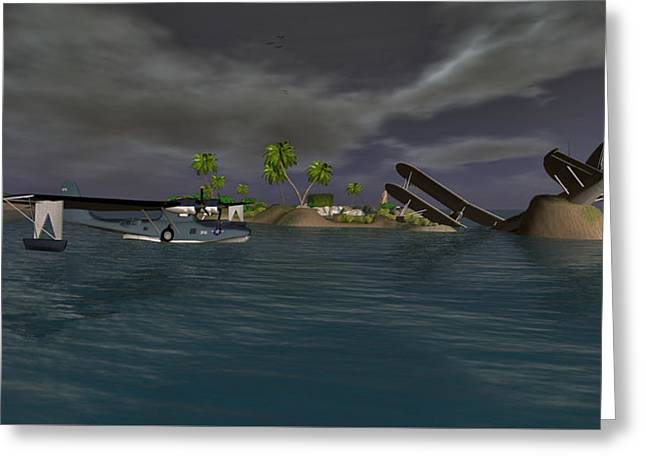 Pby Sureal Greeting Card by Mark Weller