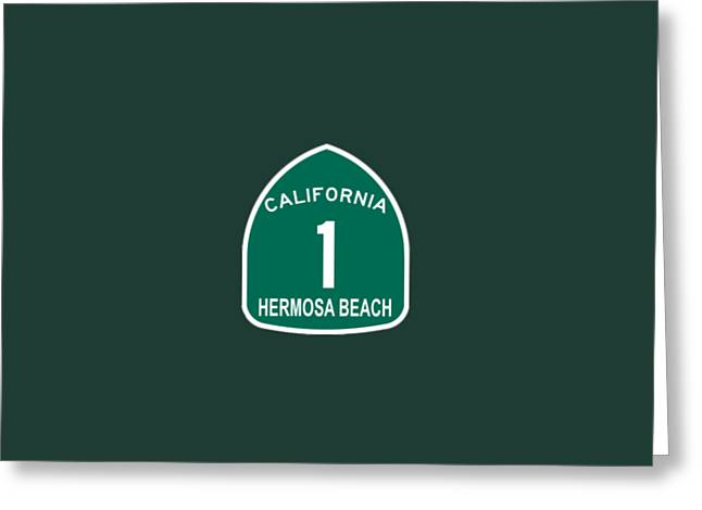 Pch 1 Hermosa Beach Greeting Card