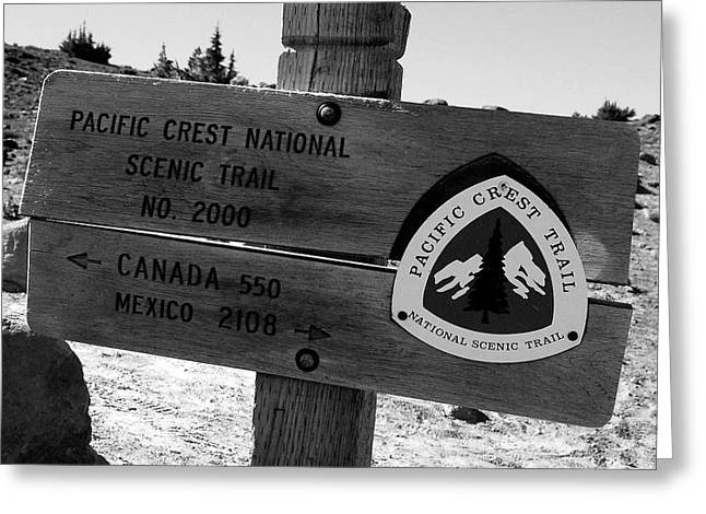 Pct Scenic Trail Greeting Card