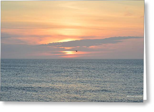 Greeting Card featuring the photograph Pea Island Sunrise by Barbara Ann Bell