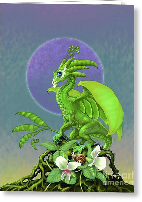 Pea Pod Dragon Greeting Card