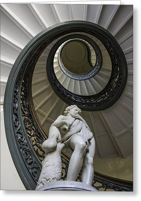 Peabody Institute Spiral Staircase Greeting Card