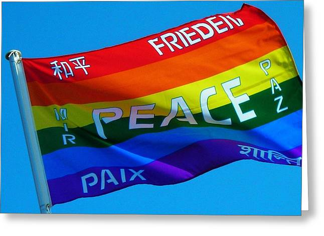 Peace - Paz - Paix Greeting Card by Juergen Weiss
