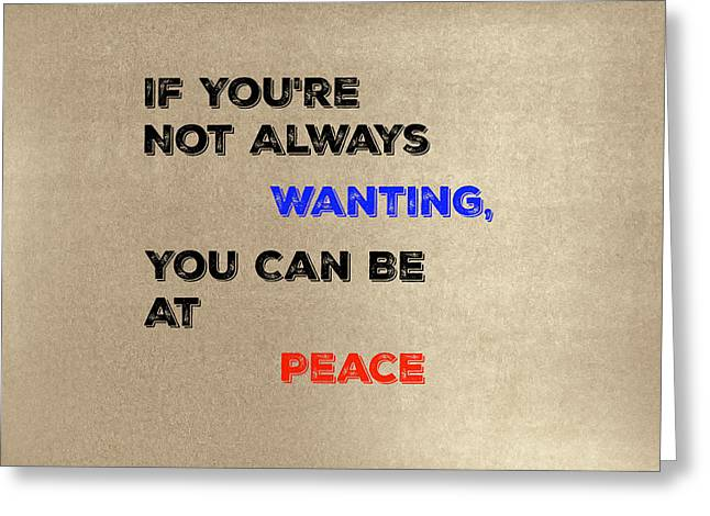 Peace #2 Greeting Card