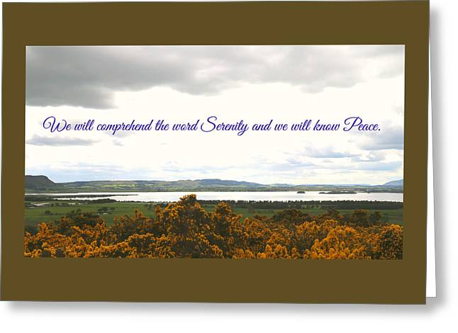 Peace And Serenity Greeting Card