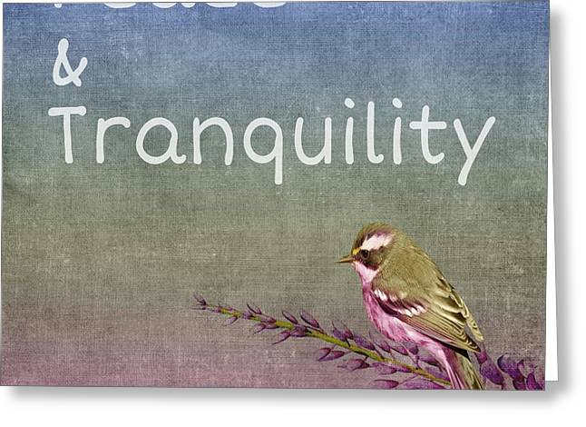 Peace And Tranquility  Greeting Card