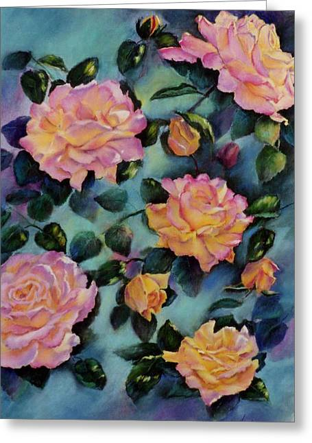 Greeting Card featuring the painting Peace by Ann Peck