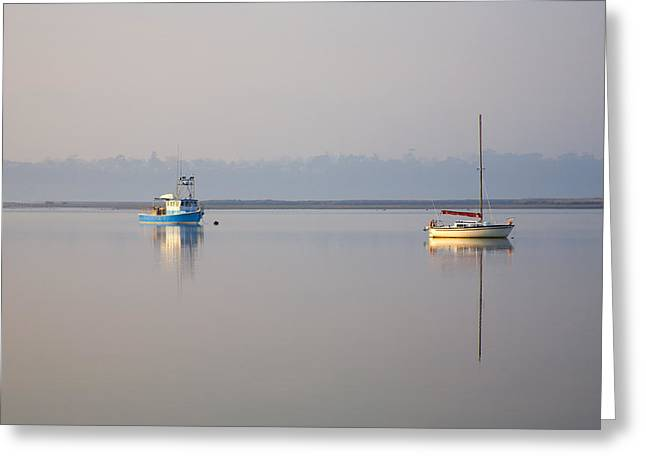 Peace At Anchor Greeting Card by Mike  Dawson