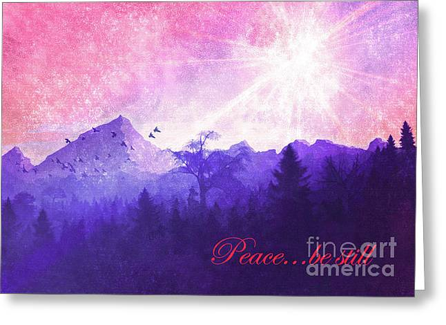 Greeting Card featuring the digital art Peace Be Still 2016 by Kathryn Strick