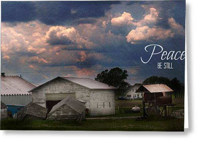 Peace Be Still Greeting Card by Kim Blaylock