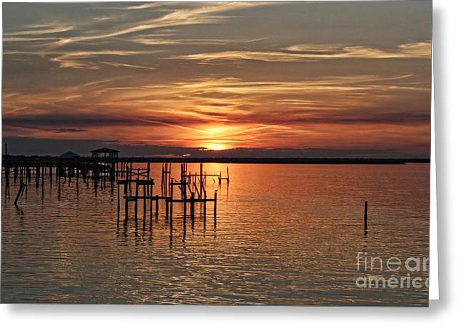 Peace Be With You Sunset Greeting Card