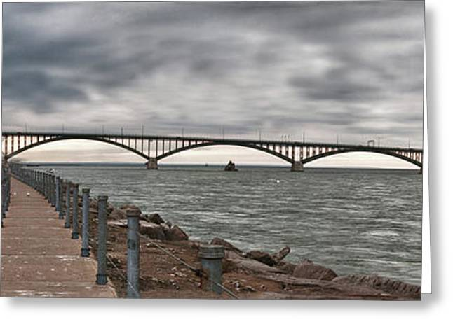 Guy Whiteley Greeting Cards - Peace Bridge Greeting Card by Guy Whiteley