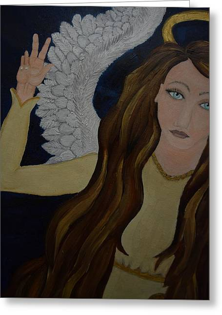 Peace, Brother Greeting Card by Wendy Wunstell