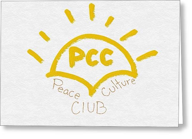 Peace Culture Club Logo Greeting Card by Joshua Stepney