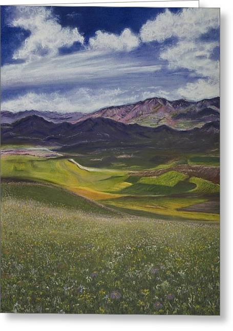 Mountain Valley Pastels Greeting Cards - Peace Greeting Card by Deborah Brown Maher