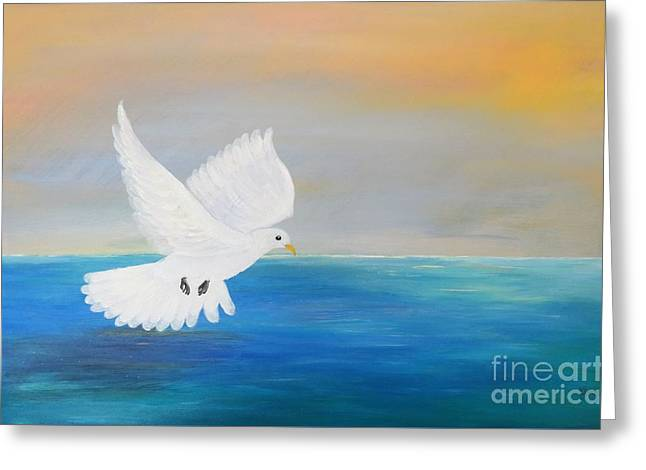 Peace Descending Greeting Card