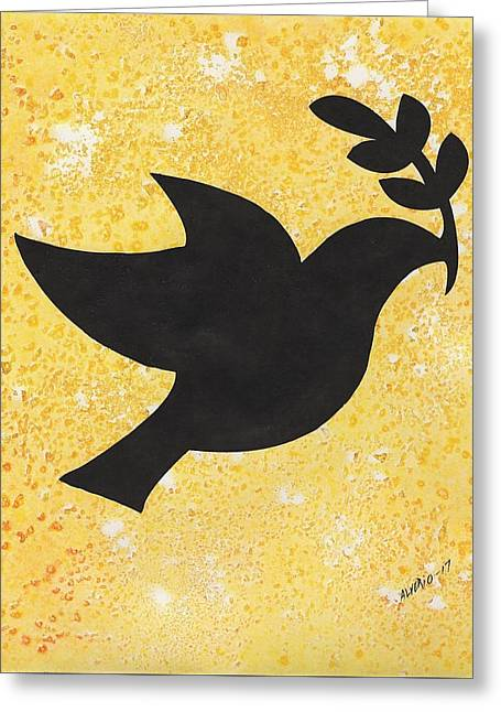 Peace Dove Greeting Card by Edwin Alverio