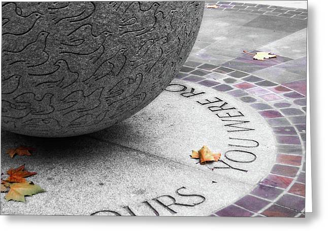 Peace Memorial Greeting Card by JAMART Photography