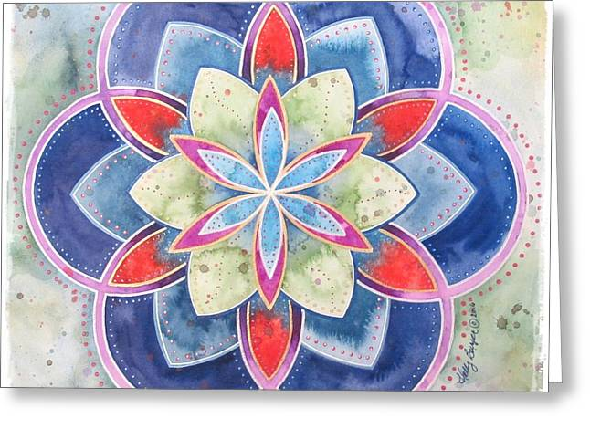 Peace Ease And Comfort Greeting Card by Holly Burger