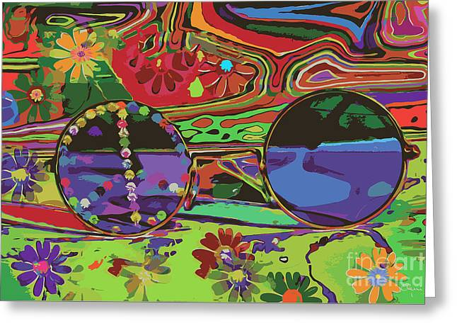 Greeting Card featuring the digital art Peace Art by Eleni Mac Synodinos