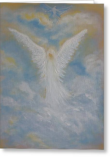Peace From An Angel  Greeting Card