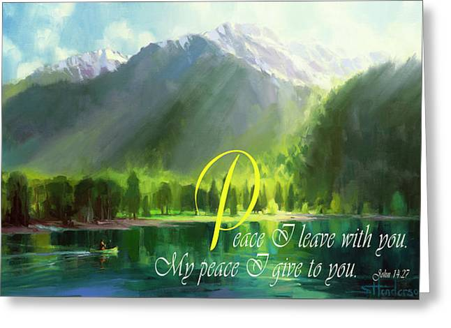 Peace I Give You Greeting Card