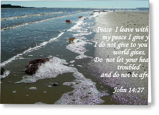 Best Sellers -  - Cedar Key Greeting Cards - Peace I Leave You Greeting Card by Sheri McLeroy