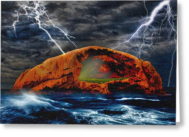 Peace In The Cleft In The Midst Of The Storm Greeting Card