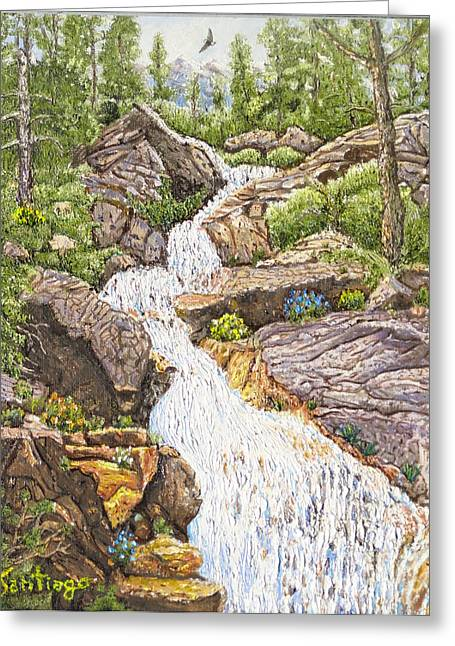 Peace In The Sierras Greeting Card by Santiago Chavez