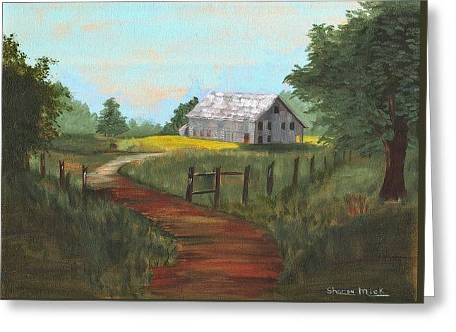 Greeting Card featuring the painting Peace In The Valley by Sharon Mick